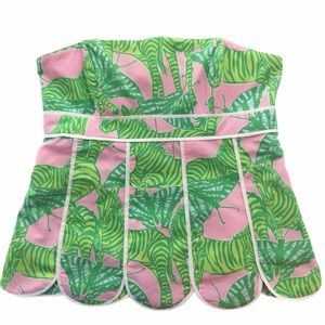 Lilly Pulitzer butterfly zebra green pink top 2